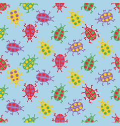 cute colorful bugs vector image