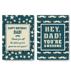 Dad birthday card with words love vector