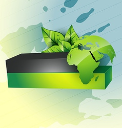 Eco style earth vector