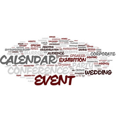 Event word cloud concept vector