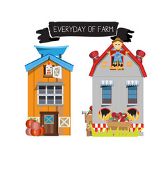 farm house country side vector image