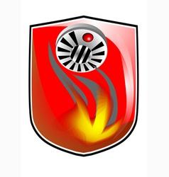 Fire prevention icon vector