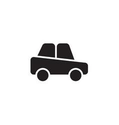 Flat glyph car icon symbol sign logo template vector