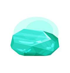 flat icon of green gemstone precious stone vector image