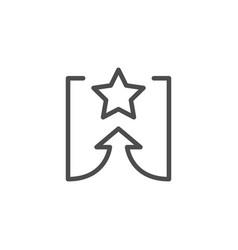 Goal line icon vector