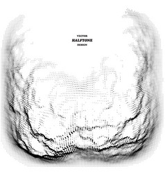 halftone design element giving a 3d dimension vector image