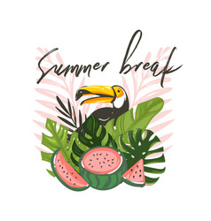 hand drawn abstract cartoon summer time vector image