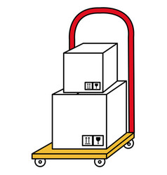 Handle cart delivery service vector