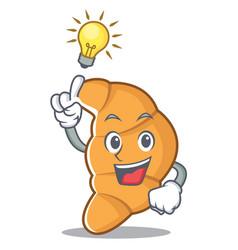 have an idea croissant character cartoon style vector image