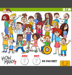 How many boys and girls educational task vector