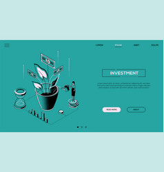 investment - line design style isometric web vector image
