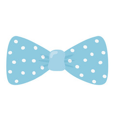 Isolated pointed bowtie design vector