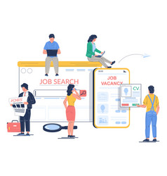 job search concept flat style design vector image