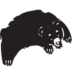 jumping bear vector image