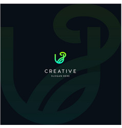 Letter u naturally creative business logo design vector
