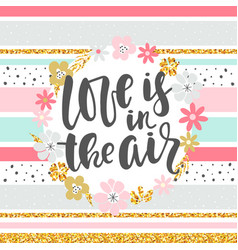 love in the air - background vector image