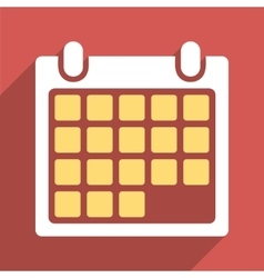 Month Calendar Flat Long Shadow Square Icon vector