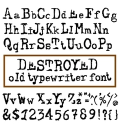 Old typewriter font Vintage font Old vector
