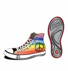 peace shoe vector image