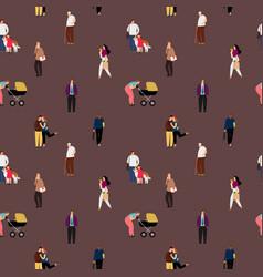 people flat seamless pattern vector image