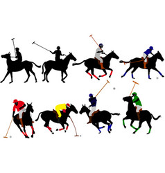 polo players vector image