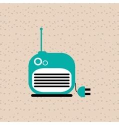 radio icons design vector image