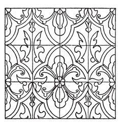 Renaissance enamel pattern are filled into vector