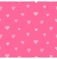 romantic seamless pattern White and pink vector image