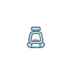 safety seat icon design transportation icon design vector image