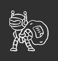 Scraper bot chalk icon malicious bad robot vector