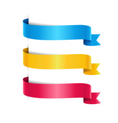 set colored arrow ribbons vector image