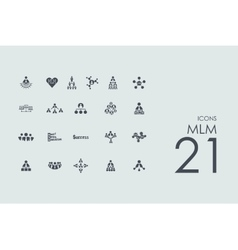 Set of MLM icons vector