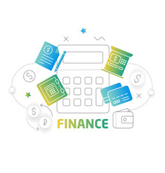Shape lines finance vector