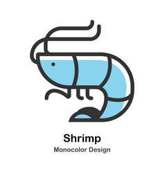 Shrimp monocolor vector