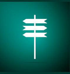 signpost icon road sign pointer symbol vector image
