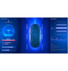 smart car dashboard modern speedometer interface vector image