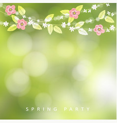 spring easter greeting card invitation string vector image