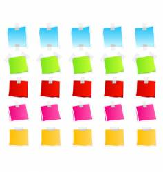 sticky retail notes vector image