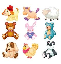 Stuffed animals vector image