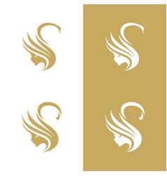 swane boutique logo vector image