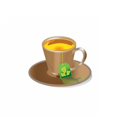 Tea in cup vector image
