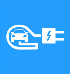 template for electric vehicle sign vector image