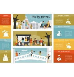 Time To Travel infographic flat vector