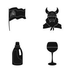 travel cleaning and or web icon in black style vector image