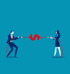 Two business pull the rope concept business vector