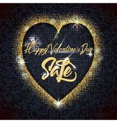 Valentines day sale - typographic calligraphic vector image