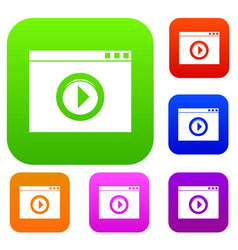 Video player set collection vector