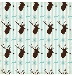 Vintage seamless background christmas pattern vector image