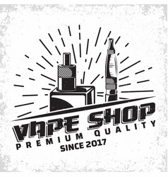 Vintage vape emblem vector