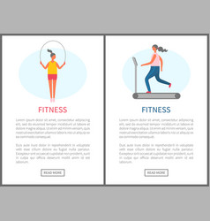 website cardio training women fitness vector image